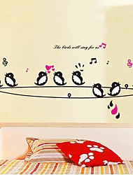 Createforlife ® de bande dessinée chantant des chansons Oiseaux enfants de pièce de crèche de mur d'autocollant Art Stickers