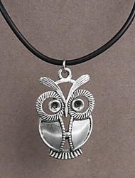 aço inoxidável moda pingente coruja