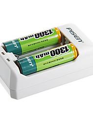 Pisen ts-mc005 carregador de bateria para bateria AA / AAA com au plugue (2x AAA incluídas)