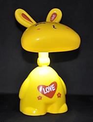 coelho dos desenhos animados criativo coway cobrando coelho encantador conduziu a lâmpada de mesa dobrável (cor aleatória)