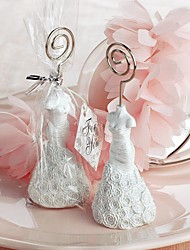 Place Cards and Holders Bridal Shower Rose Fishtail  Dress Card Holder