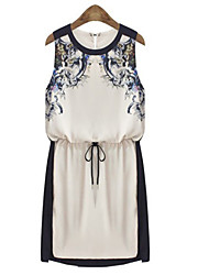 Women's Dresses , Cotton Blend/Polyester Sexy/Casual/Party Ricci