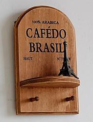 Madeira gancho de suspensão parede