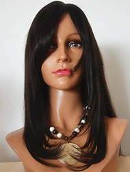 18Inch 100% Indian Human Hair Lace Front Wig with Bang Fashion Wig
