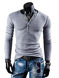 hiend pullovers lixar v-pescoço dos homens malhas