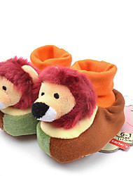 plana calcanhar mocassins sapatos de conforto de lã para crianças
