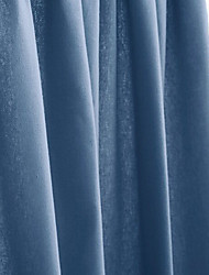 One Panel Rod Pocket  Modern Minimalist Navy Blue Solid Blackout Curtains Drapes