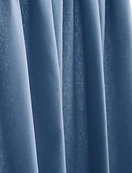 Un Panneau Le traitement de fenêtre Moderne , Solide Salle de séjour Polyester Matériel Décoration d'intérieur For Fenêtre