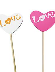 """décor di nozze """"di amore"""" ragazza di fiore puntelli banner / foto stand a forma di cuore (più colori)"""