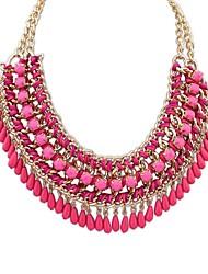 couches de style ethniques des femmes tissés gouttes d'exagération assembler collier déclaration de dossard (plus de couleurs) (1 pc)