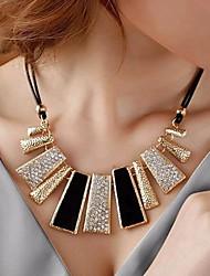 lureme®fashion collier en cristal irrégulière géométrique