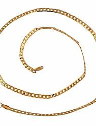 La nueva venta caliente de la manera 18K chapado en oro de la cadena unisex del collar XL0019