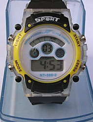 LED Sporty Water Resistance Watch Electronic Glow Watch