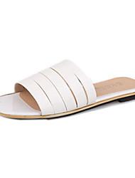 Confortable Blanc Peep Toe chaussons Quiksilver femmes