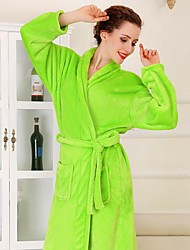 Bath Robe, High-class Fruit Green Garment Bathrobe Thicken