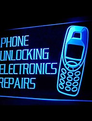 Phone Unlocking Electronics Repairs Advertising LED Light Sign