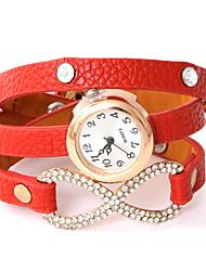 wagen u pu analoge Quarz-Armbanduhr diamantisierten Frauen
