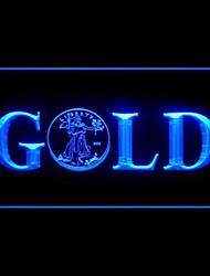 publicidad soberano extranjero oro llevó la muestra de la luz