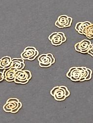 100 шт 3d-металла Nail Art Советы наклейки Наклейка золотые ломтики ф. Женская дамы