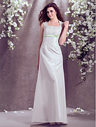Lanting Bride® A-line / Princess Petite / Plus Sizes Wedding Dress - Classic & Timeless Floor-length Square Taffeta