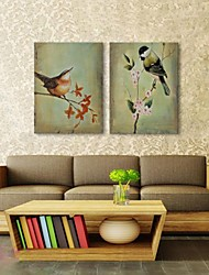 Hand Painted Wall Art Wall Decor, Retro Style  Animal Singing Birds Hand Painted Wall Décor