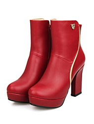Women's Stiletto Heel Fashion Boots  Mid-Calf Boots With Zipper (More colors)