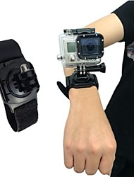 Nylon fastener tape Wrist Band with Mount of 360 Degree Rotation for GoPro Hero 3+/3/2/1