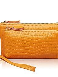 Women 's bolso de la alta calidad de la manera del cuero genuino del Solid Monedero Ladie
