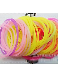 Fluorescent Multicolor Silicone Ring Fashion Hair Bands (Color Random)