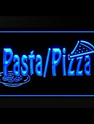 Pasta Pizza Food Restaurant Green Blue Red White Orange Purple Yellow Advertising LED Light Sign