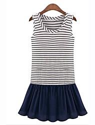 Women's New Summer Stripe Knitwear Dress(Stripe ordering random)