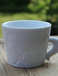 """280ml Ceramic Creative Horse Pattern Cup with Tail Handle,4.3""""x3.7""""x3"""""""