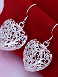 Vilin Women's Sliver Heart  Earrings