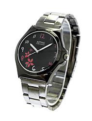 Unisex ronda Dial Steel Band cuarzo analógico reloj de pulsera