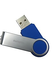 16GB Ourspop U33 giratorio USB 2.0 Flash Drive Memory Stick