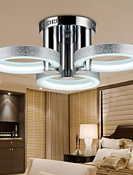 Chandelier LED Modern Silver 3 Lights