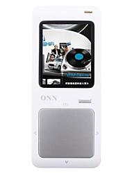 """ONN Q7 Ultra-Slim 1.8 """"Lecteur MP3 d'écran avec TF / FM-Argent (8 Go)"""