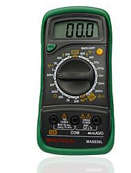 MASTECH MAS830L 3 2/1 LCD Digital Multimeter DC/AC Voltage Resistance Transistor Tester