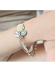 MIKI Diamante Stack Pearl Rose Bracelet