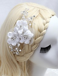 Women's/Flower Girl's Satin/Crystal/Imitation Pearl/Cubic Zirconia Headpiece - Wedding/Special Occasion/Outdoor Hair Combs/Flowers