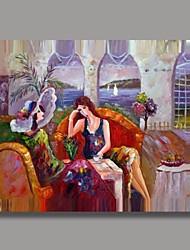 personnes peints à la main peinture avec cadre étiré prêt à accrocher