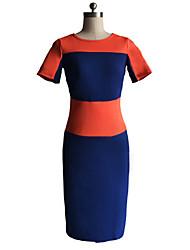 BZX Orange gemeinsame Bleistiftkleid der Frauen mit beiden Seiten zip