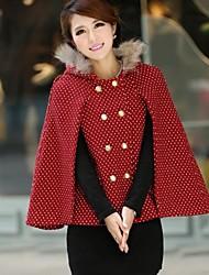 Mulheres Taichang ™ Raccoon Fur capuz Manto