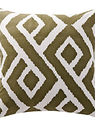 Cotton Pillow Cover / Pillow With Insert , Geometric Modern/Contemporary