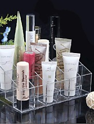 Acrílico 4x6 Transparente Quadrate Cosméticos armazenamento carrinho de escova da composição celular Cosmetic Organizer