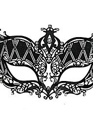 Sexy Cat Girl Style Black Metal Halloween Masquerade Mask