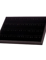 Classic 120 Holes Earrings Jewelry Stand Black Paper Leather Flannelette Jewelry Boxes(1 Pc)