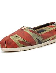 Zapatos Yasafant moda de las mujeres los zapatos de lona de la bandera nacional del Reino Unido Flat