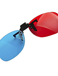 Reedoon Red Blue Side by Side Myopia Clamping Piece Suits of 3D Glasses for Computer