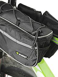 Bike Frame Bag Cycling/Bike For Rain-Proof / Shock Resistance / Shockproof , Black , 600D Ripstop)